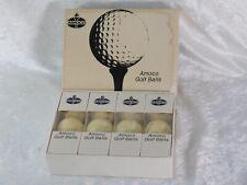 Vtg Amoco Gas Oil Advertising 1 Dozen 12 Golf Balls MIB USA Made
