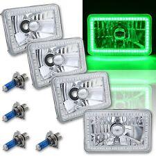 4X6 Green SMD LED Halo Angel Eye Headlight Headlamp Halogen Light Bulbs Set of 4