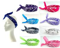 New Fashion Paisley Turban Bunny Bow Head Wrap Headband Retro Bandana Hair Band