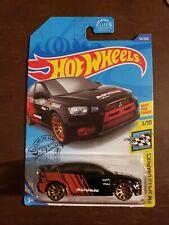 2008 Lancer Evolution #69 * Black * 2020 Hot Wheels Case C Rare Side Tampo Error
