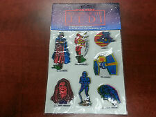 STAR WARS RETURN OF THE JEDI 7 SELF-STICK RAISED STICKERS NEW!! Free Shipping!!