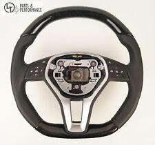 LE TEF® ESCHE HOLZ SCHWARZ Lenkrad für Mercedes-Benz W212 W204 R172 W176 NON AMG