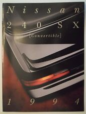 NISSAN 240SX CONVERTIBLE orig 1993 1994 USA Mkt Large Format Sales Brochure