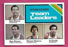 1975-76 TOPPS # 286 UTAH MOSES MALONE TEAM LEADERS NRMT-MT  CARD (INV# C3467)
