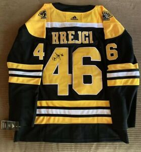 David Krejci Signed Boston Bruins Jersey Autographed