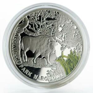 Malawi 20 kwachi Bialowieski Park Biosphere colored silver proof coin 2011