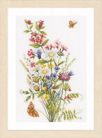 Field Flowers (Evenweave) :  Lanarte Counted Cross Stitch Kit - PN0155693