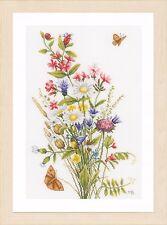 Champ de fleurs (Evenweave): Lanarte Counted Cross Stitch Kit-PN0155693