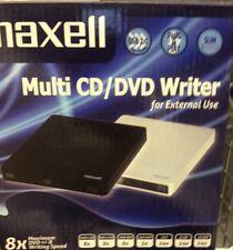 Maxell Slim External Multi Speed CD/DVD Writer Black Brand New