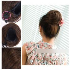 New Casual Clip In Ponytail Bun Scrunchie Drawstring  Lovely Hair Extension New