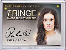 Fringe 3 & 4 Cryptozoic Autograph A16 Paula Giroday