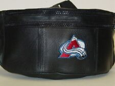 NHL Leather Fanny Pack, Colorado Avalanche, NEW
