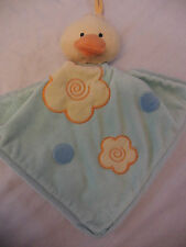 Baby Yellow Duck Security Green Soft Blanket Blankie Banky Satin Underside