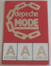 DEPECHE MODE Laminated ACCESS ALL AREAS Backstage Tour Pass (Silver Foil)