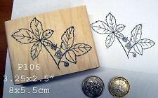 P106 Blackberries  Rubber Stamp