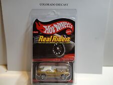 Hot Wheels Red Line Club Real Riders Series Gold Chrome Show Off