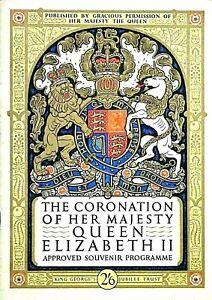 QUEEN ELIZABETH II - CORONATION - 2nd JUNE 1953 SOUVENIR PROGRAMME - RARE & FINE