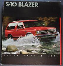 1987 Chevrolet S-10 Blazer Truck Brochure Tahoe Sport 4x4 Excellent Original 87