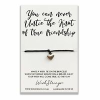 Knot Of True Friendship Wish String Bracelet With Lucky Charm Sentimental Gift