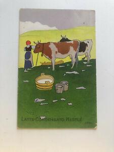 Cartolina Pubblicitaria Latte Condensato Nestlè c13