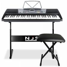 Full Size Keyboard 61 Key Digital Electronic Piano Kit Stand Stool Headphones