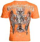 Archaic AFFLICTION Mens T-Shirt CORROSION Cross Wings Tattoo Biker MMA UFC $40