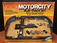 Matchbox 1987 Motorcity Play Track Set Sealed Dela0527