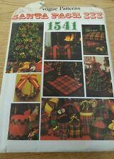 VINTAGE VOGUE 1541  SANTA PACK III W TRANSFERx FOR ALPHABET SEWING PATTERN tree