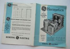 Reference Guide For G.E. Hermetics  Motor Compressor & Condensing Units  1951