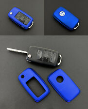 VW Remote Flip Key Cover Case Skin Shell Cap Fob Protection Metallic Blue -2009