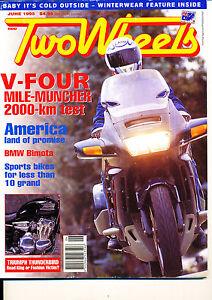 Two Wheels Magazine June 1995 #1 Bimota Supermono Thunderbird Honda ST1100