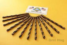 """Drill Hog® Drill Bits 1/8"""", 9/64"""", 5/32"""", 1/4"""" x2 each Moly M7 Lifetime Warranty"""