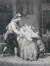 L Interieur Catalan Salon de 1835 LITHOGRAPHIE Franquelin Vogt Lemercier XIXe
