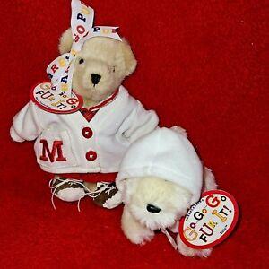 1996 NABCO MUFFY VANDER BEAR  With Lulu the Pup - Go Go Go Fur It! CHEERLEADERS