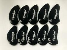 10PCS Golf Club Covers for Cleveland Iron Headcovers Red Black 4-LW RH Universal