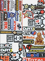 Rc Car Body Shell 4pcs Stickers Decal Sheet For Traxxas Rustler Stampede Slash