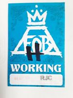 1-Unstuck Fall Out Boy Satin WORK Pass From Historic Wrigley Field Sept 8 2018
