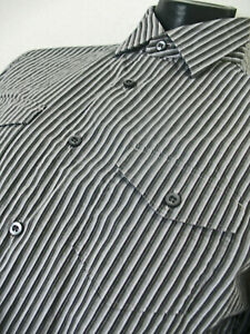 Banana Republic Men's Blue Stripes Button Dn Shirt 15 to 15&1/2 button cuffs