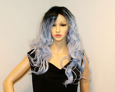 EVA HAIR Long Hair Wig Blue & Black 24""