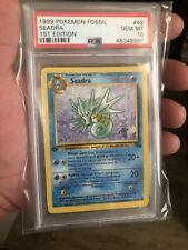 1999 Pokemon 1st Edition Fossil #42 Seadra PSA 10 Gem Mint
