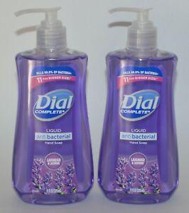 LOT OF 2 DIAL COMPLETE LAVENDER JASMINE LIQUID SOAP WASH ANTI BACTERIA 11 OZ