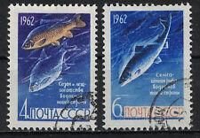 RUSSIA,USSR:1962 SC#2632-33(2) used - Fish