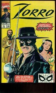 ZORRO COMIC BOOK #2, NM 9.4, 1990, MARVEL COMICS!