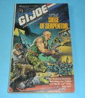 1988 GI Joe Cobra Fiction Book #1 Siege of Serpentor Paperback Novel by RL Stine