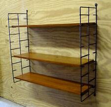 NISSE STRINNING String DANISH MODERN Teak MID-CENTURY Wall Shelf SHELVING SYSTEM