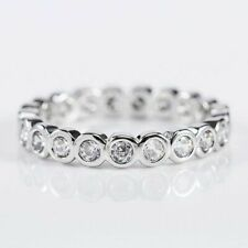 925 Silver Jewelry Women Wedding Rings Round Cut White Sapphire Ring Size 9