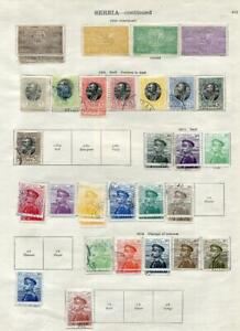 SERBIA: 1904-1918 Examples - Ex-Old Time Collection - 2 Sides Album Page (41609)