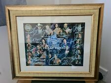wwe wwf signed autographed wrestlemania 21 signed by 16 undertaker,benoit,kane