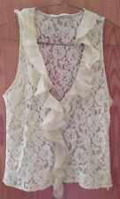Woman Top Light Green SPIRITY Lace&satin Medium Made In Italy