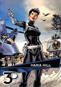 MARIA HILL / Marvel 3D (Upper Deck 2015) BASE Trading Card #15